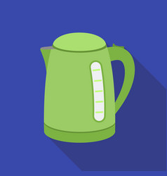 Electrical kettle icon in flat style isolated on vector