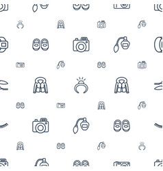 Fashion icons pattern seamless white background vector