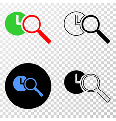 find time eps icon with contour version vector image