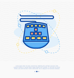 gaming keyboard thin line icon vector image