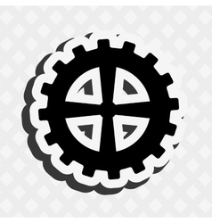 gears machine design vector image