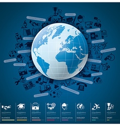 Global Index Infographic With Icon Set Chart vector image