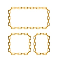Gold Chain Frames vector