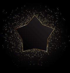 golden star background golden background vector image