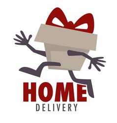 home delivery isolated icon parcel and food vector image