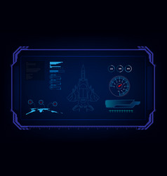 Hud interface gui futuristic technology jet vector