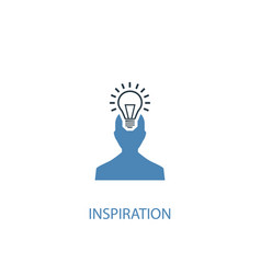 Inspiration concept 2 colored icon simple blue vector