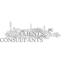 It consultants save your clients from themselves vector