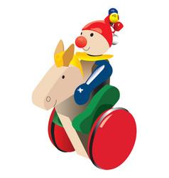 jouet bois vector image