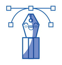 Kawaii feather icon vector