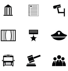 law icon set vector image