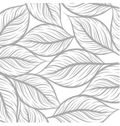 Leaf drawing art pattern texture on a white vector