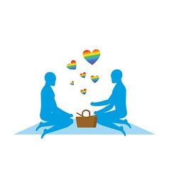 LGBT picnic Gay Rendezvous in Park Rural jaunt vector image