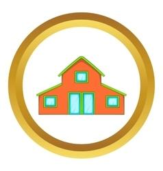 Little house icon vector