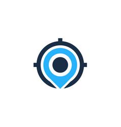 Locate target logo icon design vector
