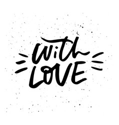 love lettering design vector image