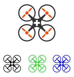 medical drone flat icon vector image