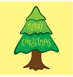 merry christmas greeting or poster design vector image
