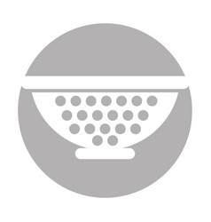 metal kitchen strainer icon vector image