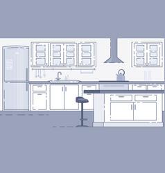 modern kitchen roomy interior background vector image