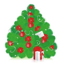 new years tree vector image