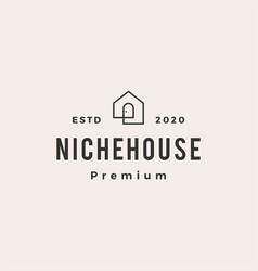 niche door house hipster vintage logo icon vector image