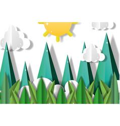 paper art scenery vector image