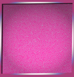 Pattern with curls on pink background vector