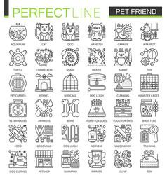 pet friend outline concept symbols perfect pet vector image