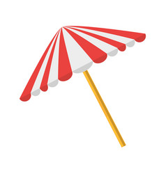 picnic umbrella isolated vector image