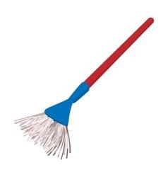 Plastic broom cartoon vector image