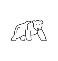 polar bear line icon concept polar bear vector image