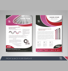 Presentation flyer concept vector