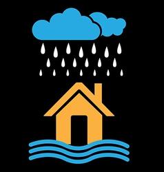 Rain and flood vector