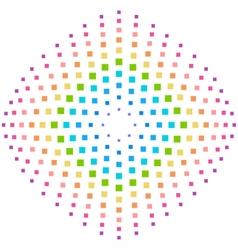 Rainbow element background in a lot of squares vector