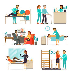 rehabilitation and therapy set vector image