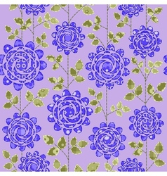 Seamless background with dark blue roses vector image