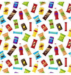 seamless pattern snack product for vending machine vector image
