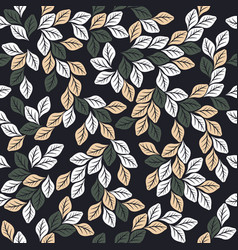 seamless pattern with elegant leaves vector image