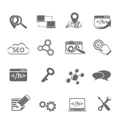 Seo Marketing Icons Set vector image