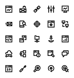 SEO Web Optimization Icons 1 vector