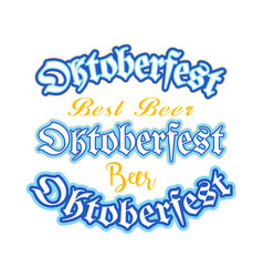 set logo for oktoberfest vector image