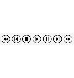 Set media player button icons vector