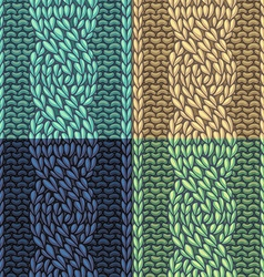 Set of Six-Stitch cable stitch patterns vector