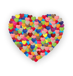 set of valentines day heart sign collection set vector image
