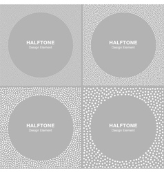 Set of White Dots Frames on Gray Background vector