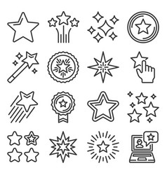 shining stars xmas and favorite icons set vector image