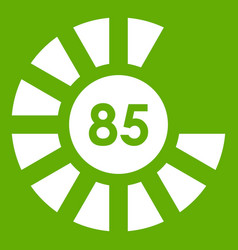 Sign 85 load icon green vector