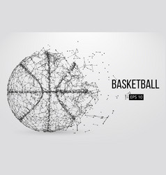 Silhouette of a basketball ball vector