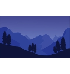 Silhouette of the hills vector